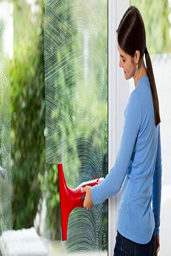 Vileda Windomatic Fenstersauger mit flexiblem Kopf für streifenfreie Fenster - 4