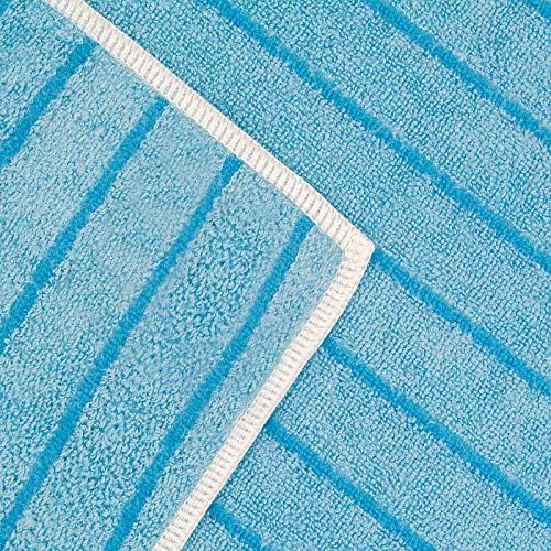 POLYCLEAN Micro-Stripe Universal-Microfasertuch 40×30 cm, 10 Stück im PowerPack für Haushalt, Auto und Hobby - 8