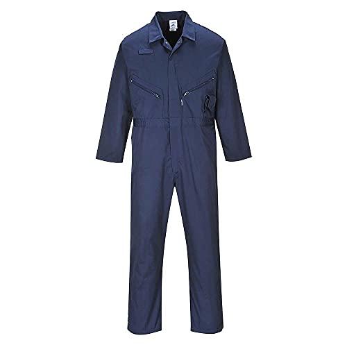 Liverpool Blaumann/Arbeits-Overall - Reißverschluss - Handytasche - Berufsbekleidung In Den Größen S-5XL - C813 - XL, marineblau