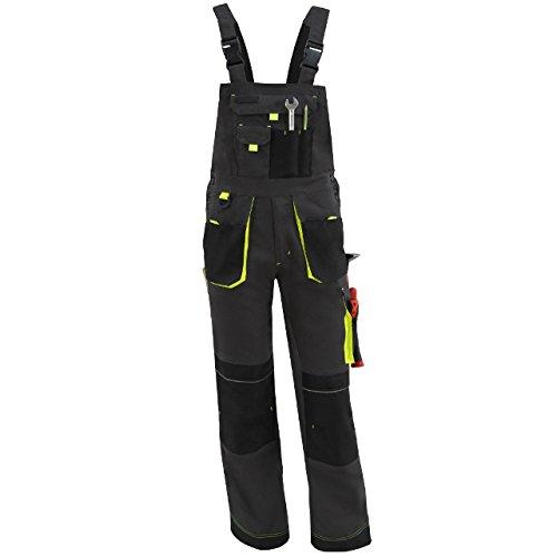 Latzhose Arbeitshose Sicherheitshose Berufsbekleidung Neon Reflex Gelb Größe 60 NEU
