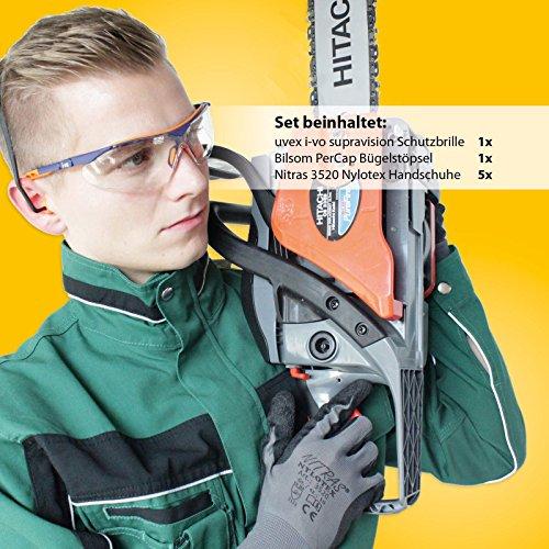 Arbeitsschutz Set Basic – Augenschutz Gehörschutz Handschuhe - 2