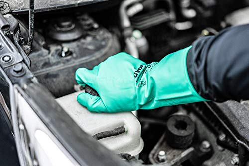 Uvex Nitril- / Chemikalienhandschuh – Hochwertiger Schutzhandschuh gegen chemische und mechanische Risiken (10) - 4