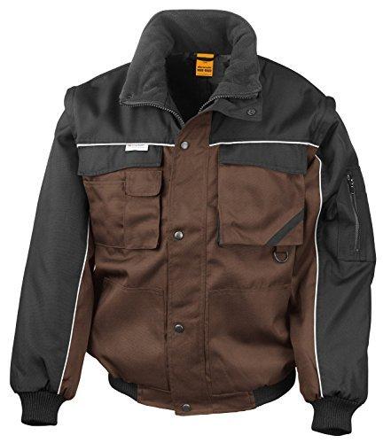RT71 Workguard Heavy Duty Jacke Arbeitsjacke winddicht wasserabweisend, Farbe: Tan-Black