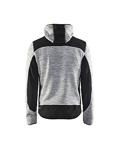 """Blåkläder Workwear Strickjacke """"4930"""" mit Softshell, 1 Stück, M, grau / schwarz, 67-49302117-9099-M - 2"""