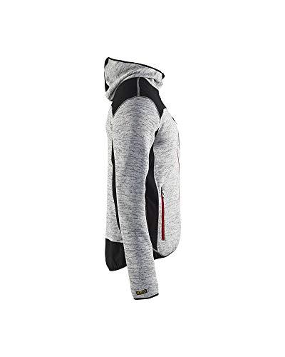 """Blåkläder Workwear Strickjacke """"4930"""" mit Softshell, 1 Stück, M, grau / schwarz, 67-49302117-9099-M - 3"""