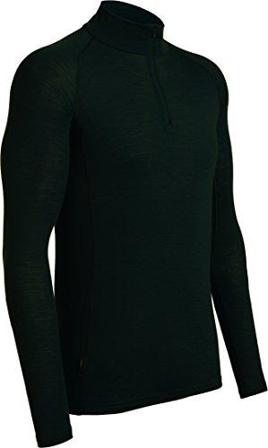 Icebreaker Herren Funktionsshirt Everyday LS Half Zip, Black, XL, 101259001