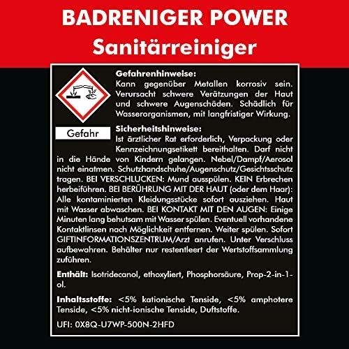 SANITÄRREINIGER (5 Liter) Konzentrat — inkl. Auslaufhahn 51mm – mit Abperleffekt Lotus-Effekt Grundreinigung Kalklöser — Original Brestol - 2