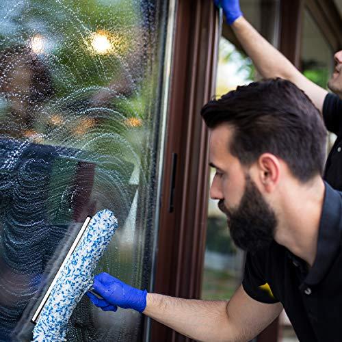 Abzieher und Fensterwischer in einem, in 3 Größen: 25 cm, 35 cm und 45 cm | inklusive einer Gratisprobe Profi-Glasreiniger (35 cm) - 7