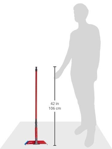 Vileda Profi Fensterwischer mit Stiel – Abzieher, Einwascher mit Mikrofaserbezug und Teleskopstiel - 5